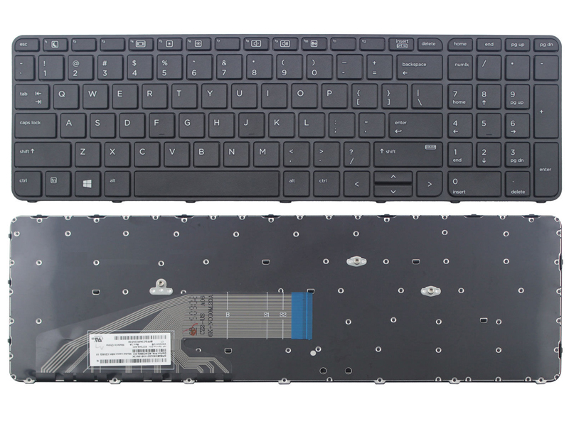 HP Probook 450 G3 455 G3 470 G3 Laptop Keyboard, Without Backlit With Frame